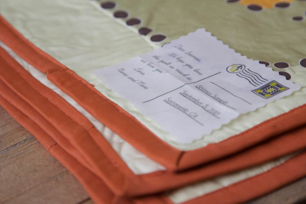 design your own quilt labels