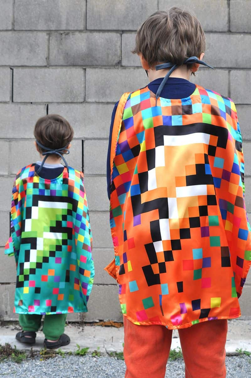 DIY Pixel capes in Satin
