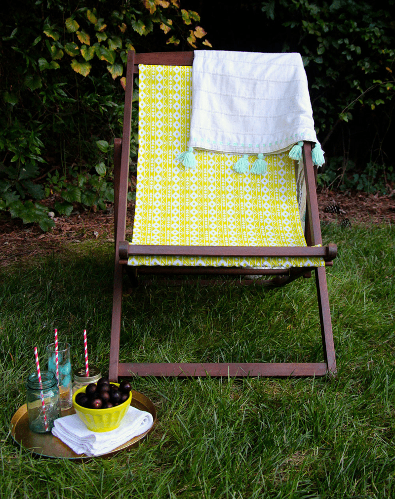 DIY Outdoor Chair Makeover Spoonflower Blog