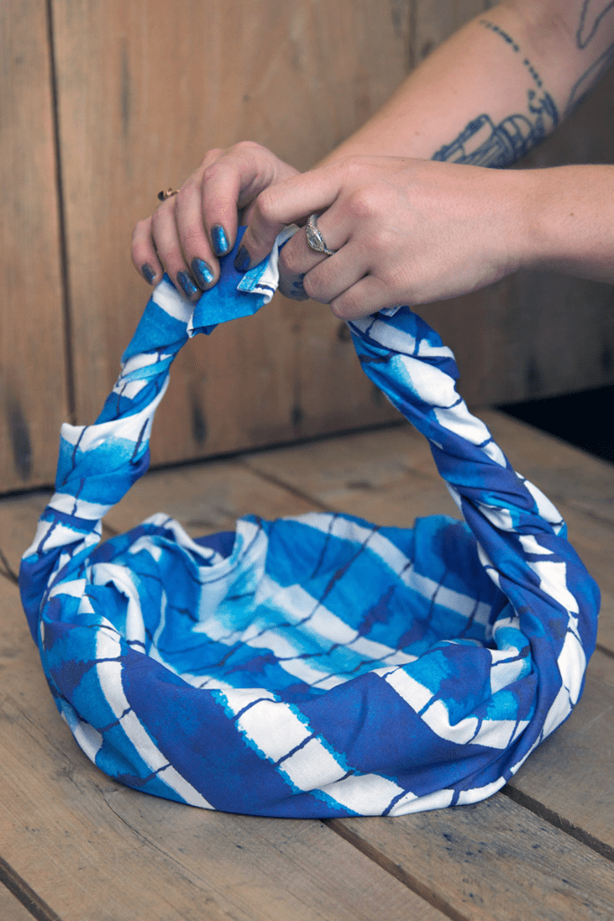learn furoshiki techniques with Linen Cotton Canvas