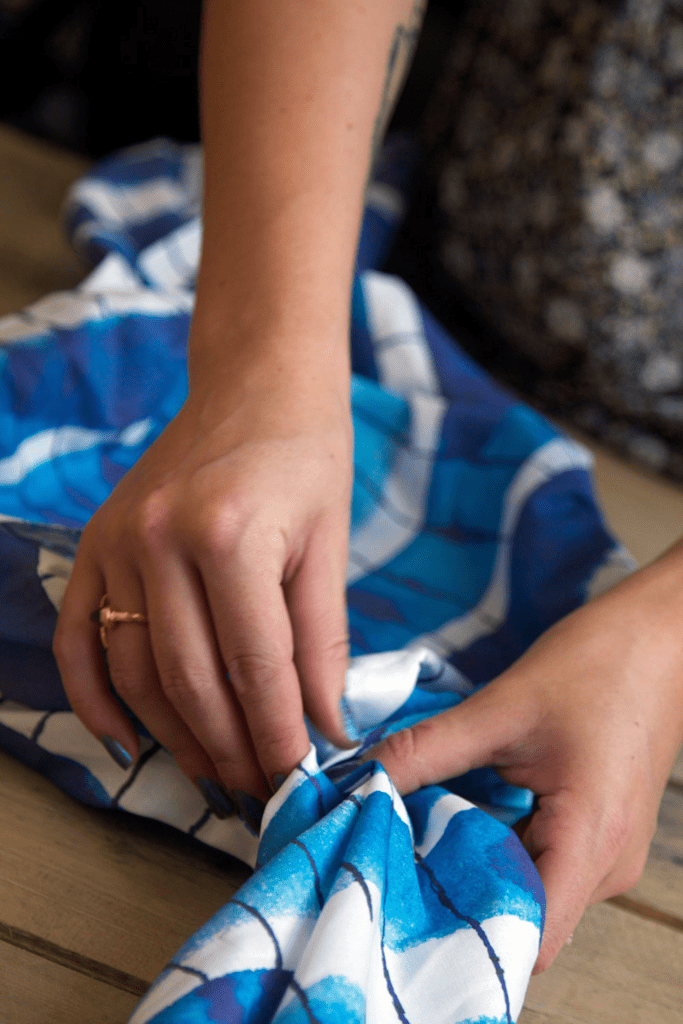 Learn traditional Japanese furoshiki techniques using Spoonflower fabrics
