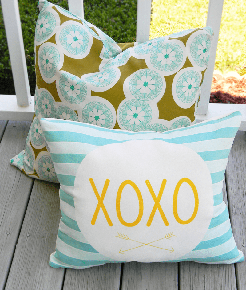 Finished custom pillow