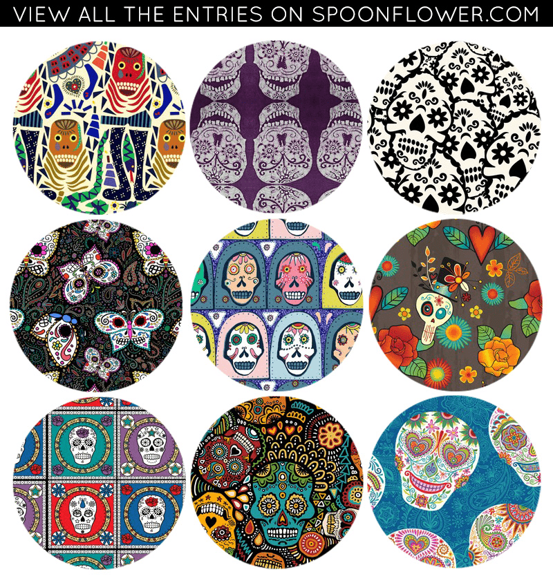Vote for you favorite calaveras fabric