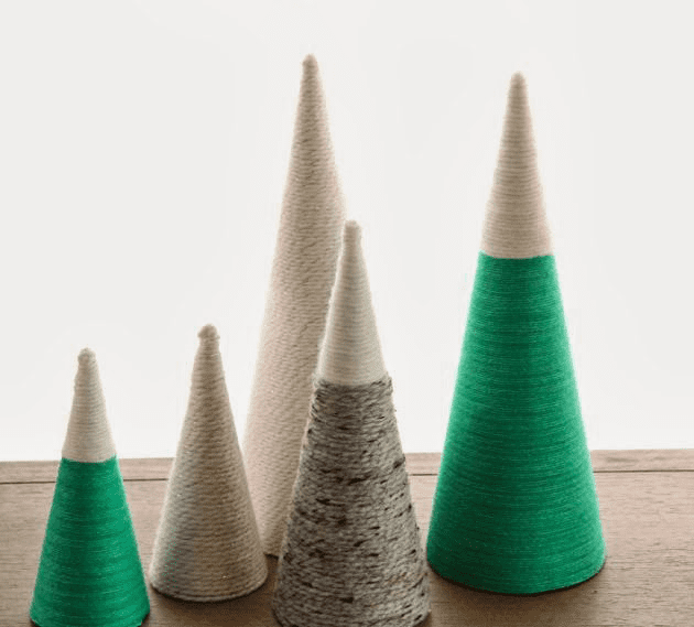 DIY Woolen Trees