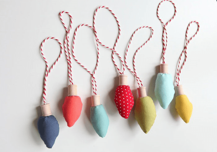 Fabric Bulb Ornaments