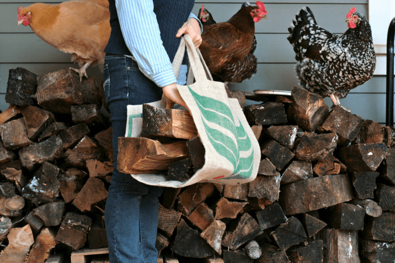 DIY fire wood carrier