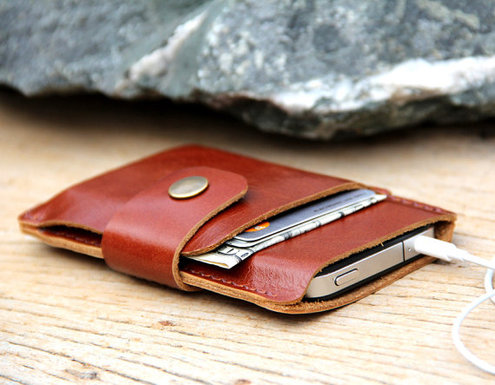 Leather phone case + wallet