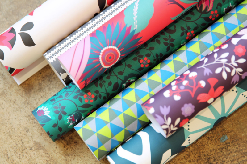 Spoonflower + Tea Collection gift wrap