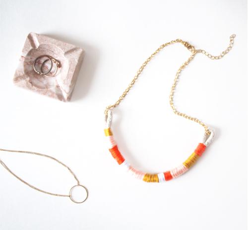 DIY wrap necklace