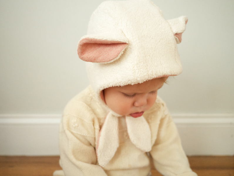 DIY lamb bonnet