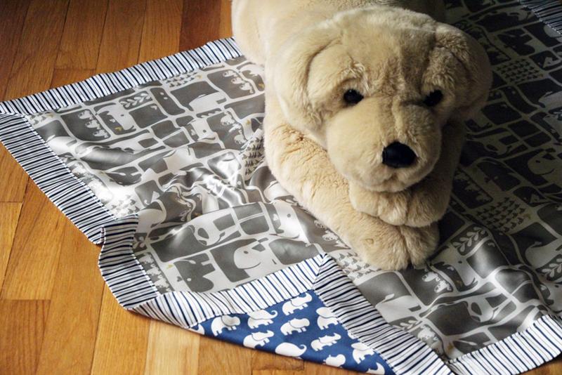 Satin baby blanket
