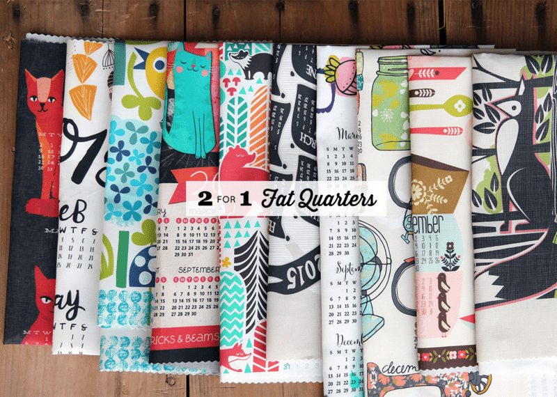 2-for-1 Fat Quarters!