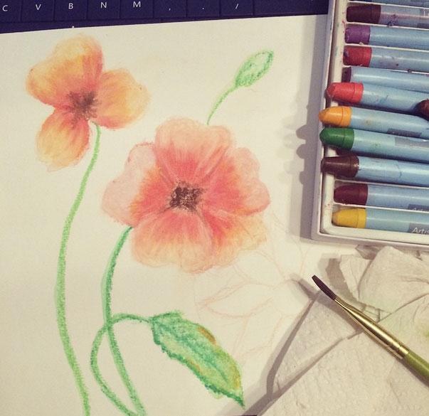 Sketching flowers