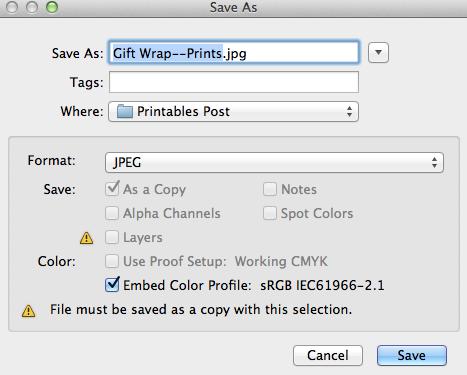 Saving image