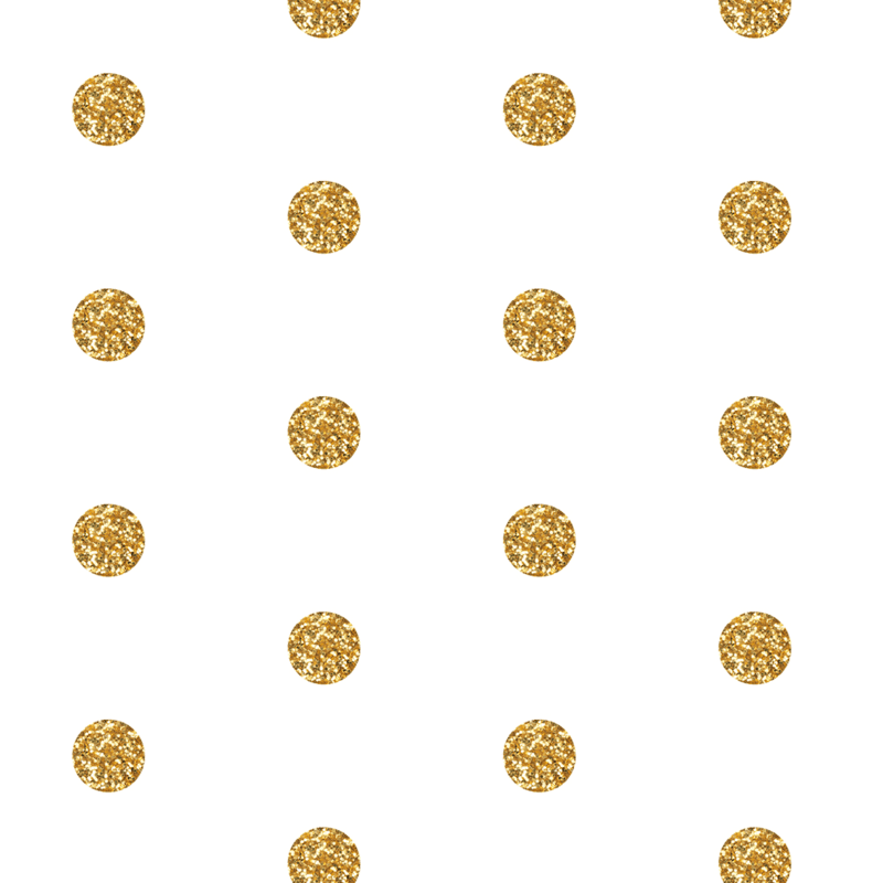 Polka Dot in Gold Glitter