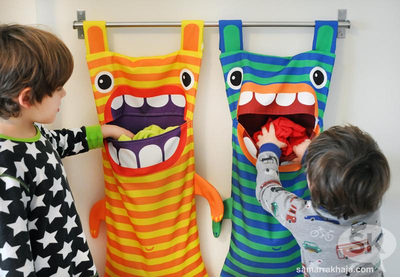 Kids Filling Monster Bags