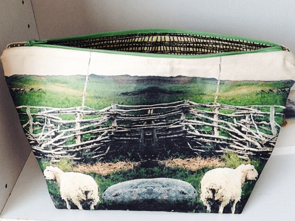 Julieacan's pouch with her Newfoundland Sheep design