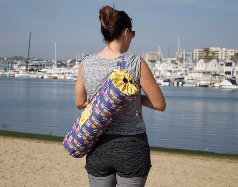 DIY yoga mat bag