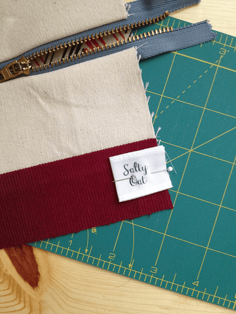 Attaching fabric label
