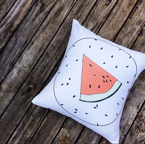 Watermelon Pillow by Flamingo Tease