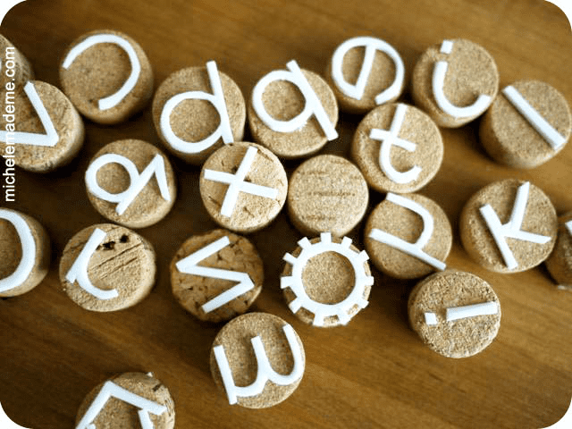 Michele Made Me DIY Cork Alphabet Stamps