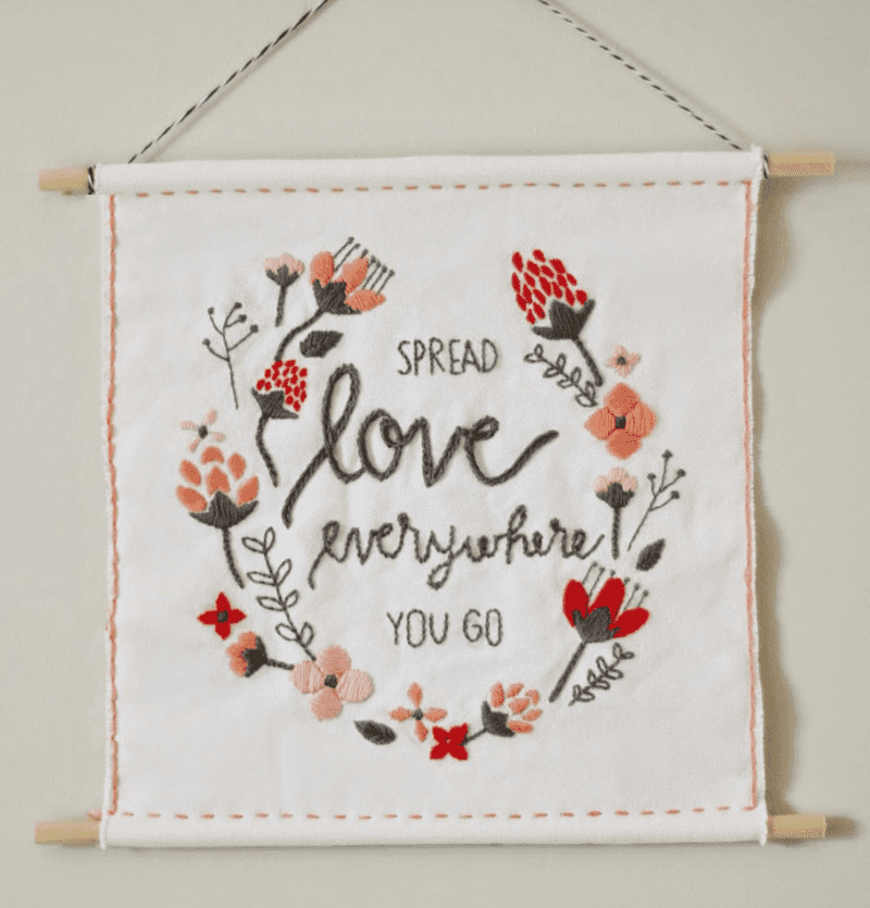 Valentine's Day Embroidery