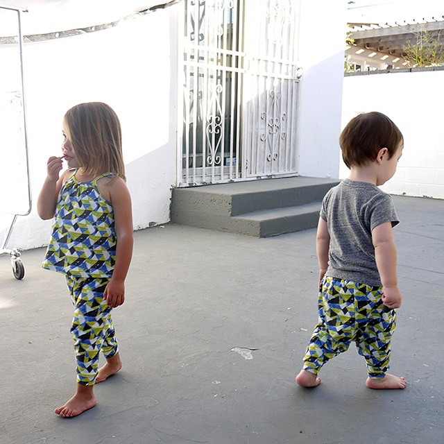 Geometric children's clothes