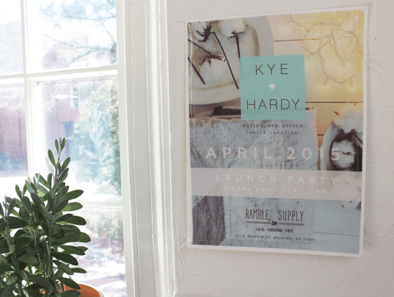Fabric posters for the Kye + Hardy launch part