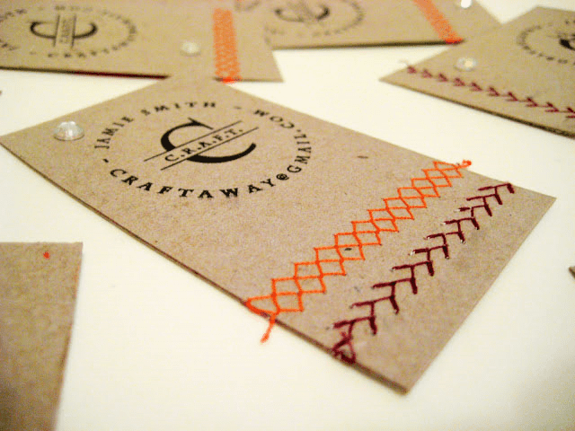 Upcycled Business Cards