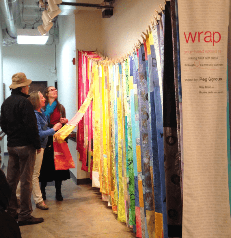 Admiring the Wrap Exhibit