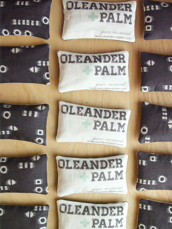 Lavender Sachet business cards by Oleander and Palm