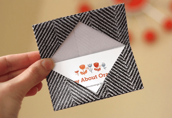 Spoonflower blog design sell shop fabric wallpaper gift origami business card holder by how about orange colourmoves
