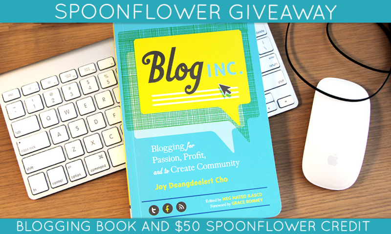 Win a copy of Blog Inc. + Spoonflower credit!
