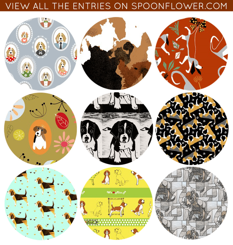 Vote for your favorite beagle fabric