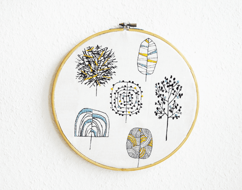 Illustrations with Embroidery by Nur Noch