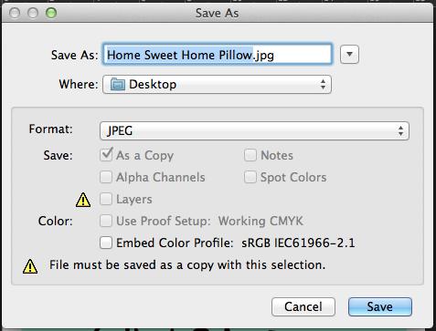 Saving file