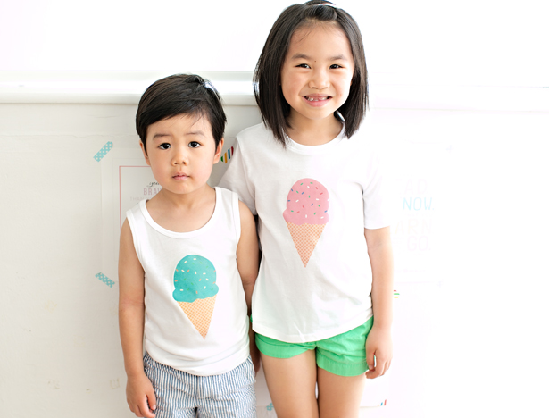 DIY ice cream tshirt kids