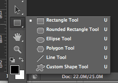 Accessing the ellipse tool