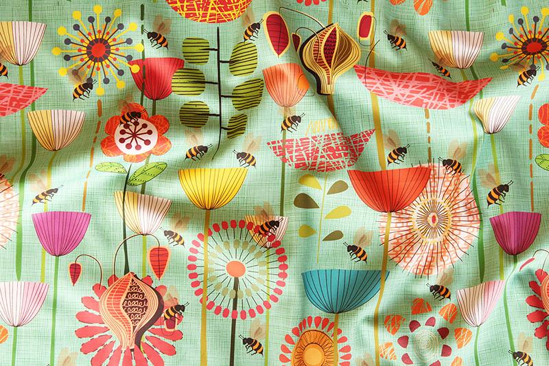 Bees fabric design challenge winner