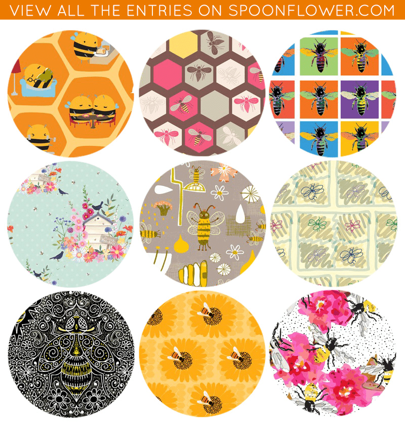 Vote for your favorite bee fabric!