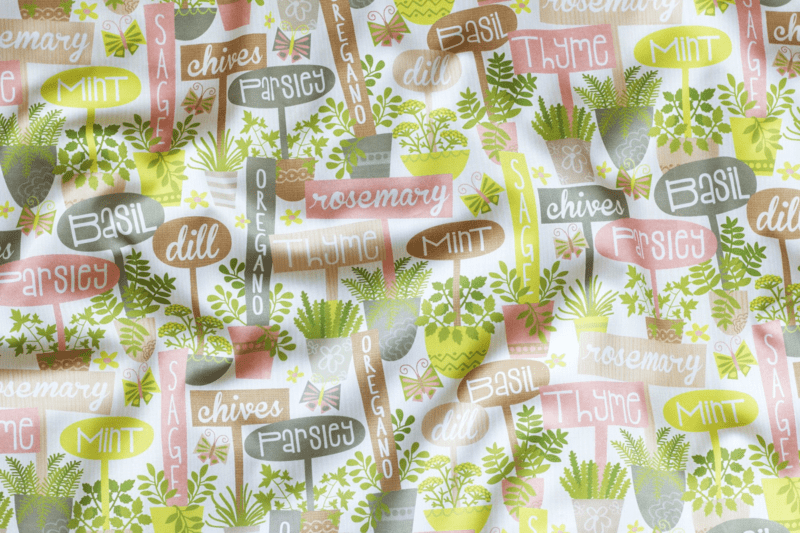 Stitch up a DIY garden kneeling pad using Herb Garden fabric by Laura Mayes