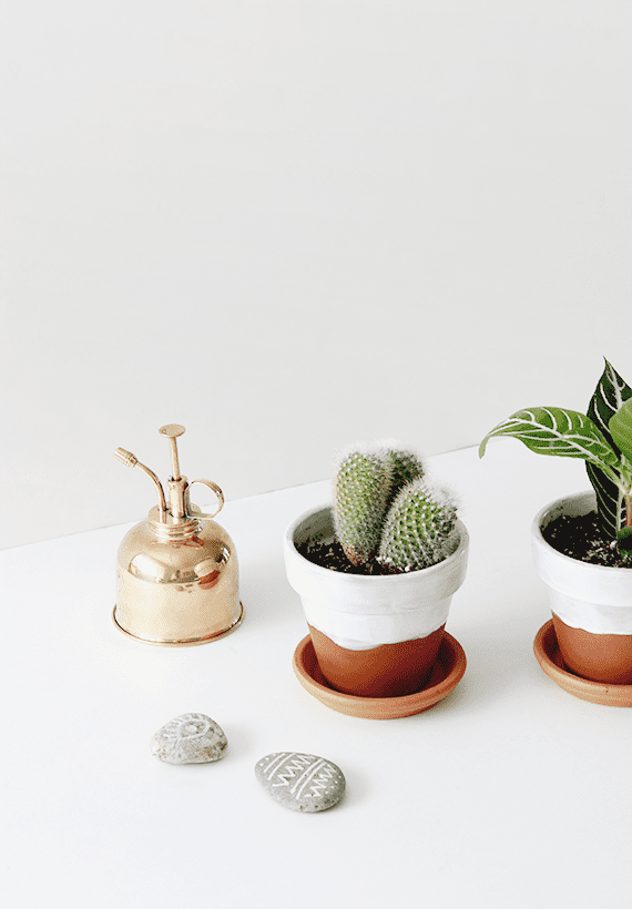 DIY Half Glazed Pots   Almost Makes Perfect