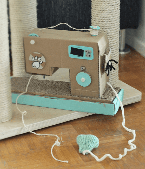 Cat Scratch Sewing Machine DIY