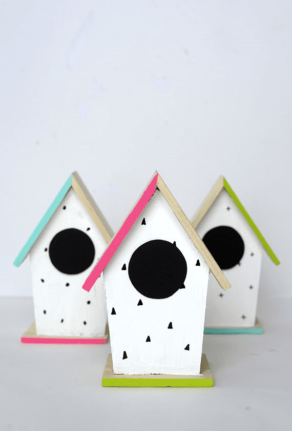 DIY Hand-Painted Bird Houses
