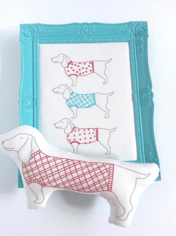 Simply Sausages Embroidery pattern