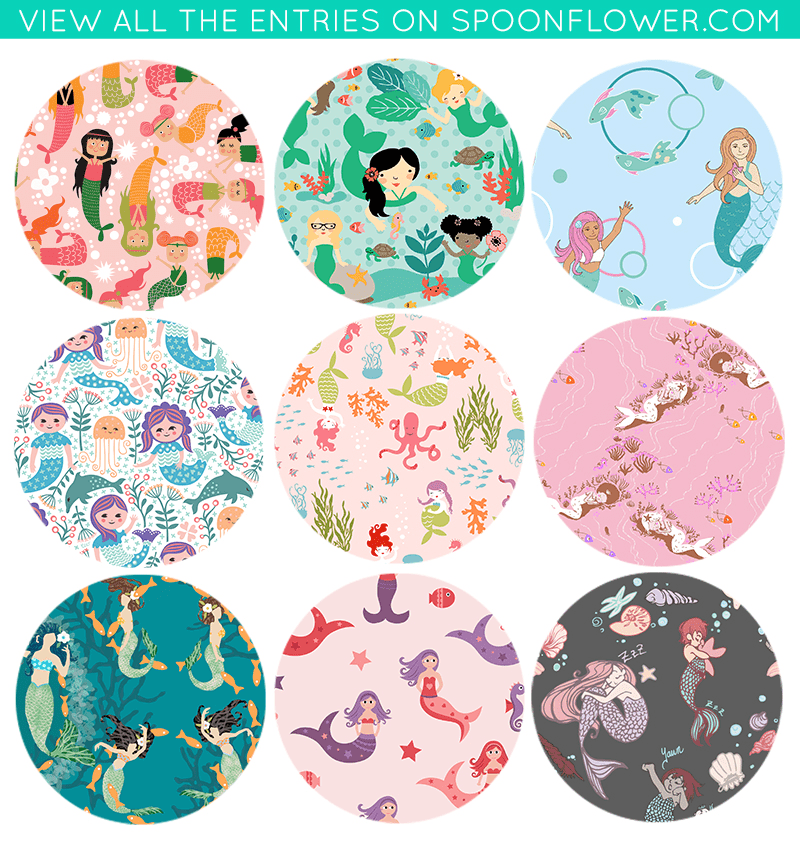 Vote for your favorite mermaid fabrics!