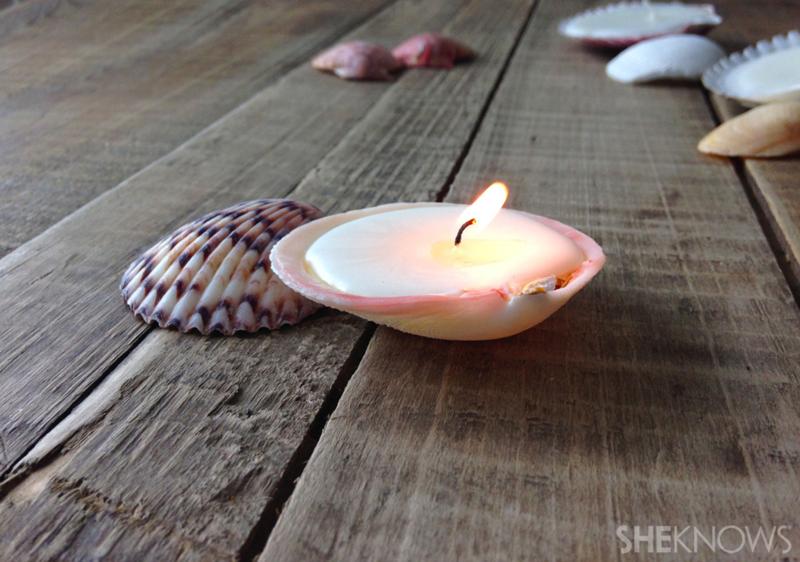 Seashell candle