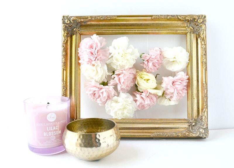 Blush floral frame