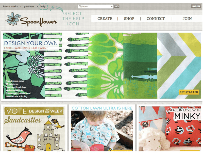 Spoonflower Homepage