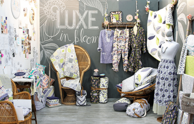 luxe in bloom booth